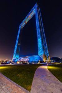 Dubai Frame showing of its LED work